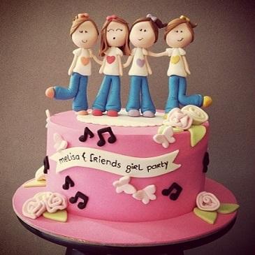 figure modeling cake